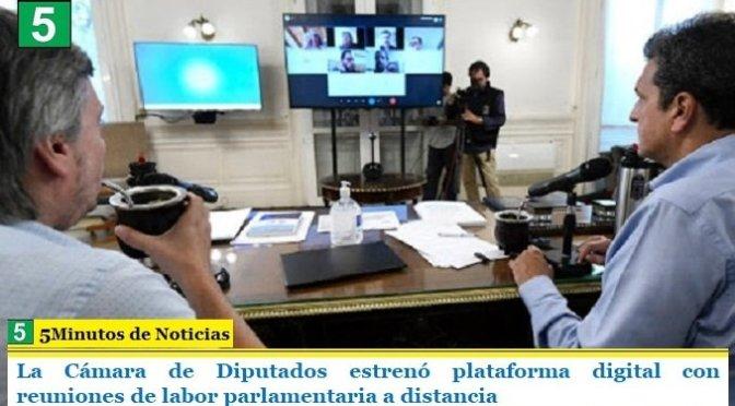 La Cámara de Diputados estrenó plataforma digital con reuniones de labor parlamentaria a distancia