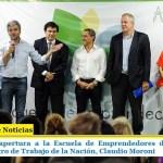 Zabaleta dio apertura a la Escuela de Emprendedores de Hurlingham junto al ministro de Trabajo de la Nación, Claudio Moroni