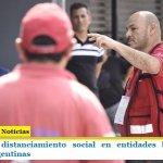 Control de distanciamiento social en entidades bancarias de Malvinas Argentinas