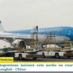 Aerolíneas Argentinas iniciará esta noche su cuarta operación especial a Shanghái – China