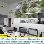 El gobierno del Presidente Fernández dispuso fuertes controles en todo el país para evitar el turismo interno durante la Semana Santa