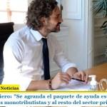 """Santiago Cafiero: """"Se agranda el paquete de ayuda estatal, incluye al resto de los monotributistas y al resto del sector privado"""""""