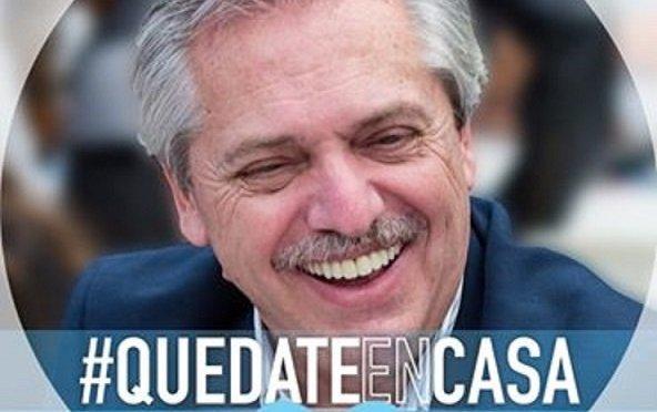 """Alberto Fernández invitó a poner """"Quedate en casa"""" en la foto de los perfiles de Facebook"""