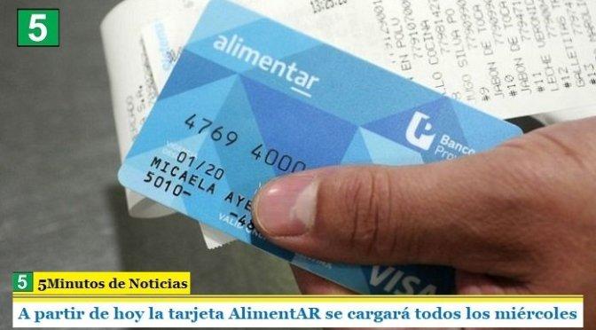 A partir de hoy la tarjeta AlimentAR se cargará todos los miércoles
