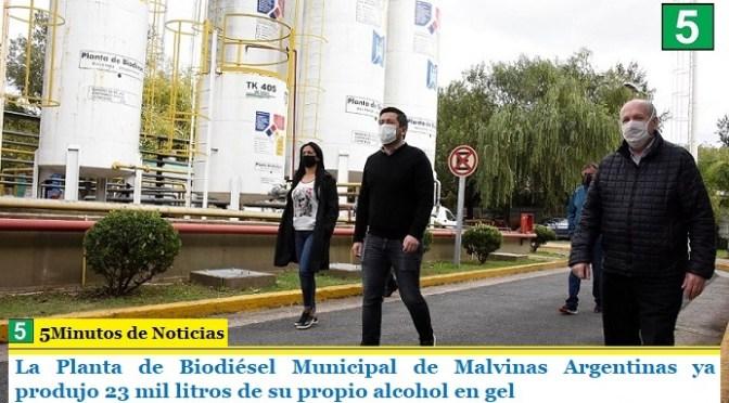 La Planta de Biodiésel Municipal de Malvinas Argentinas ya produjo 23 mil litros de su propio alcohol en gel