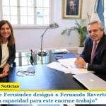 """El Presidente Fernández designó a Fernanda Raverta en la Anses: """"Confío en su capacidad para este enorme trabajo"""""""