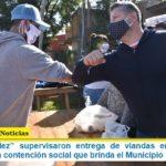 """""""Los Menéndez"""" supervisaron entrega de viandas en Merlo y se destacó la alta contención social que brinda el Municipio"""