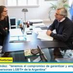 """Presidente Fernández: """"tenemos el compromiso de garantizar y ampliar los derechos de las mujeres y personas LGBTI+ de la Argentina"""""""