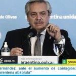 """Presidente Fernández, ante el aumento de contagios: """"Habría que volver a la cuarentena absoluta"""""""