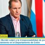El Gobernador Bordet culpó a la irresponsabilidad de pocos por volver a fase 1 del aislamiento en el Departamento de Colón