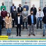 Axel Kicillof en teleconferencia con intendentes anunció asistencia a municipios para pacientes extrahospitalarios con coronavirus