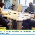 Mayra Mendoza y Jorge Ferraresi se reunieron para planear la urbanización de Villa Azul