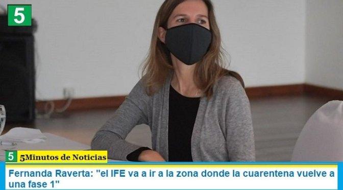 """Fernanda Raverta: """"el IFE va a ir a la zona donde la cuarentena vuelve a una fase 1"""""""