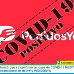 ASiMM informó que se confirmó un caso de COVID-19 POSITIVO en la empresa trasnacional de delivery PEDIDOSYA