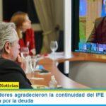 Los Gobernadores agradecieron la continuidad del IFE y respaldaron la negociación por la deuda
