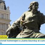 El Gobierno Nacional homenajeó a Juana Azurduy al cumplirse 240 años de su nacimiento