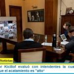 El Gobernador Kicillof evaluó con intendentes la cuarentena en el AMBA y dijo que el acatamiento es «alto»
