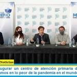 Kicillof al inaugurar un centro de atención primaria de la salud en Moreno: «estamos en lo peor de la pandemia en el mundo»