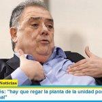 """Eduardo Valdés: """"hay que regar la planta de la unidad porque divididos nos fue muy mal"""""""