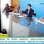 """El ministro Wado De Pedro mantuvo videoconferencia con los vicegobernadores de varias provincias: """"agenda de integración"""""""