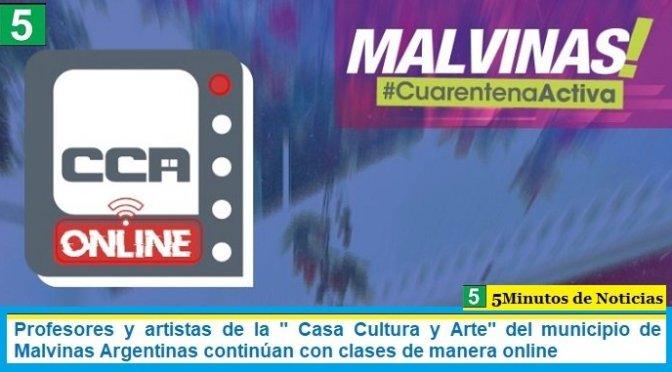 """Profesores y artistas de la """" Casa Cultura y Arte"""" del municipio de Malvinas Argentinas continúan con clases de manera online"""