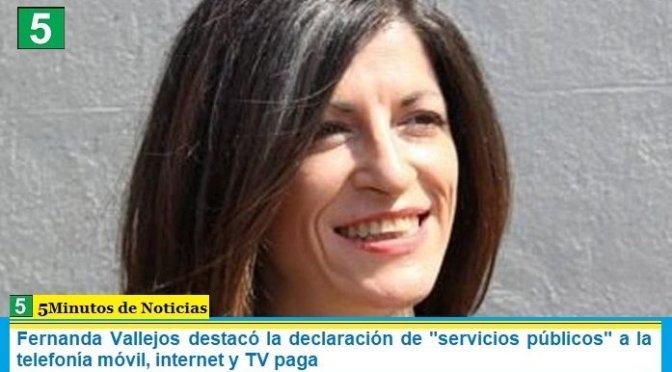 """Fernanda Vallejos destacó la declaración de """"servicios públicos"""" a la telefonía móvil, internet y TV paga"""
