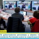 Diecinueve (19) gobernadores peronistas y aliados respaldaron la decisión del presidente Fernández sobre la coparticipación de CABA