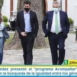 """Alberto Fernández presentó el """"programa Acompañar"""" y ratificó su compromiso en la búsqueda de la igualdad entre los géneros"""