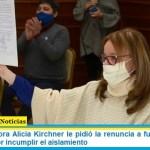 La Gobernadora Alicia Kirchner pidió la renuncia a funcionarios de Santa Cruz por incumplir el aislamiento