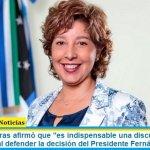 """Arabela Carreras afirmó que """"es indispensable una discusión sobre el federalismo"""" al defender la decisión del Presidente Fernández"""