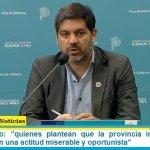 """Carlos Bianco: """"quienes plantean que la provincia intentó ocultar muertos tienen una actitud miserable y oportunista"""""""