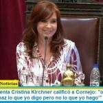 """La Vicepresidenta Cristina Kirchner calificó a Cornejo: """"otro entusiasta militante del 'haz lo que yo digo pero no lo que yo hago'"""""""