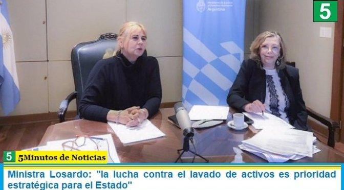 """Ministra Losardo: """"la lucha contra el lavado de activos es prioridad estratégica para el Estado"""""""