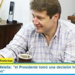 """Gobernador Melella: """"el Presidente tomó una decisión histórica por la coparticipación"""""""