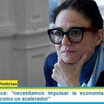 """Cecilia Todesca: """"necesitamos impulsar la economía utilizando el gasto público como un acelerador"""""""