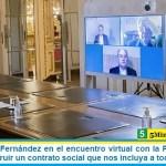 """El Presidente Fernández en el encuentro virtual con la Pastoral Social llamó a """"construir un contrato social que nos incluya a todos"""""""