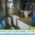 Este viernes sumaron 23.225 las víctimas fatales y 871.468 los infectados por coronavirus en Argentina. Reporte del ministerio de Salud