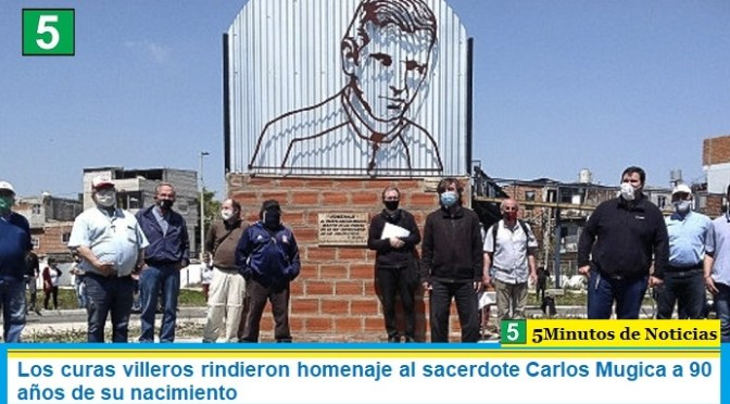 Los curas villeros rindieron homenaje al sacerdote Carlos Mugica a 90 años de su nacimiento