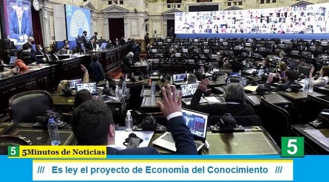 Es ley el proyecto de Economía del Conocimiento