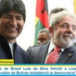 """Ex Presidente de Brasil Lula da Silva felicitó a Luis Arce y Evo Morales: """"el Pueblo de Bolivia restableció la democracia"""""""