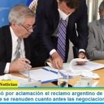 """La OEA aprobó por aclamación el reclamo argentino de soberanía por Malvinas: """"que se reanuden cuanto antes las negociaciones"""""""