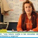 """Mirta Petrocini: """"una futura vuelta a las escuelas debe darse en contextos garantizados y seguros"""""""