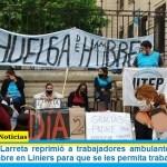La policía de Larreta reprimió a trabajadores ambulantes que hacían huelga de hambre en Liniers para que se les permita trabajar