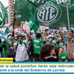 Trabajadores de la salud porteños harán este miércoles una protesta con acampe frente a la sede del Gobierno de Larreta