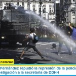 El presidente Fernández repudió la represión de la policía de Larreta y pidió una investigación a la secretaría de DDHH