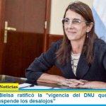 """La ministra Bielsa ratificó la """"vigencia del DNU que congela los alquileres y suspende los desalojos"""""""