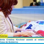 La vicepresidenta Cristina Kirchner asistió al velatorio de Diego Maradona en Casa de Gobierno