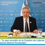 """Canciller Solá: """"lo que sucedió en la Cumbre de Líderes del G20 fue un éxito del Presidente Alberto Fernández"""""""