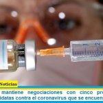 El Gobierno mantiene negociaciones con cinco productores de vacunas candidatas contra el coronavirus que se encuentran en fase 3
