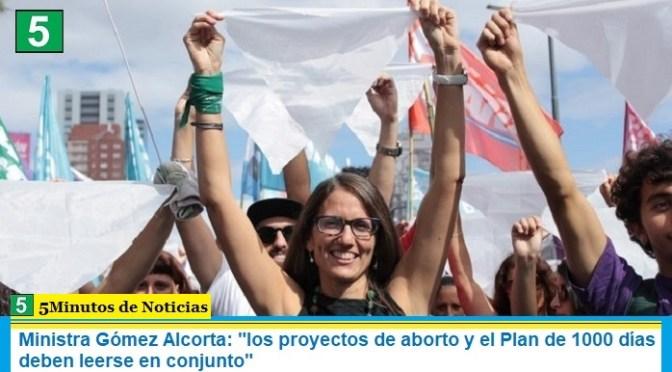 """Ministra Gómez Alcorta: """"los proyectos de aborto y el Plan de 1000 días deben leerse en conjunto"""""""